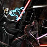 2 Star Wars Art Art Print