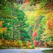 Autumn Season On Blue Ridge Parkway Art Print