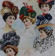 19 Century Ladies Hats The Delineator Early Autumn Hats Art Print