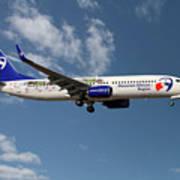 Travel Service Boeing 737-8cx Art Print
