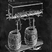 1900 Beer Cooler Art Print