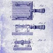 1900 Knife Switch Patent Blueprint Art Print