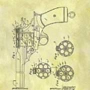1901 Automatic Revolver Patent Art Print