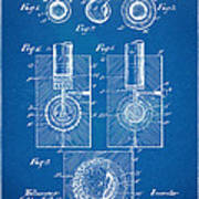 1902 Golf Ball Patent Artwork - Blueprint Print by Nikki Marie Smith