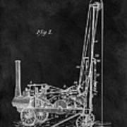 1902 Oil Well Patent Art Print