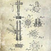 1903 Beer Tap Patent Art Print