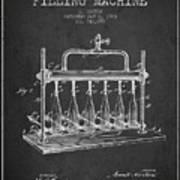 1903 Bottle Filling Machine Patent - Charcoal Art Print