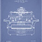 1903 Type Writing Machine Patent - Light Blue Art Print