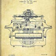 1903 Type Writing Machine Patent - Vintage Art Print