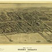 1906 Bird's Eye View Coney Island Art Print