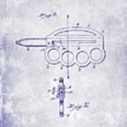 1906 Oyster Shucking Knife Patent Blueprint Art Print
