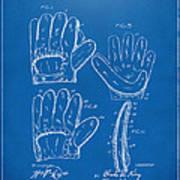 1910 Baseball Glove Patent Artwork Blueprint Art Print