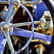 1910 Pope Hartford T Steering Wheel Art Print