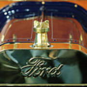 1911 Ford Model T Runabout Hood Ornament Print by Jill Reger