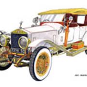 1914 Rolls Royce Silver Ghost Art Print
