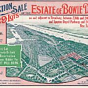 1915 Bronx Lots Sale Flyer Art Print