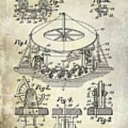 1916 Merry Go Round Patent Art Print