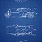 1917 Racing Vehicle Patent - Blueprint Art Print