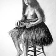 1919 Hawaiian Girl Art Print