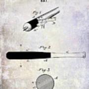 1920 Baseball Bat Patent Art Print