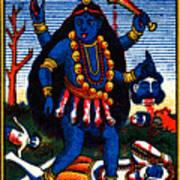 1920 Hindu Goddess Kali Art Print