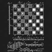 1923 Checkers And Chess Board Art Print
