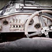 1925 Aston Martin 16 Valve Twin Cam Grand Prix Steering Wheel -0790ac Art Print