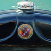 1925 Cadillac Hood Ornament And Emblem Art Print