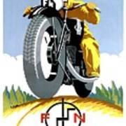 1925 Fn Motorcycles Advertising Poster Art Print