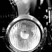 1925 Lincoln Town Car Headlight Art Print