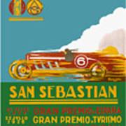 1926 San Sebastian Grand Prix Racing Poster Art Print