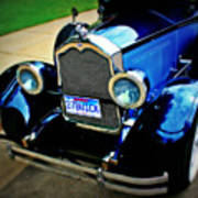1927 Blue Buick Art Print