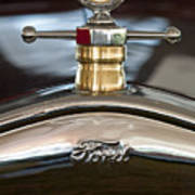 1927 Ford T Roadster Hood Ornament Art Print