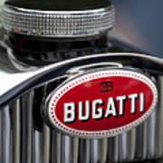 1928 Bugatti Hood Emblem Art Print