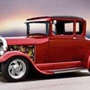 1928 Ford 'hot Rod A' Coupe Art Print