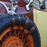 1928 Studebaker President Roadster Spare Tire Art Print
