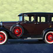 Historical Ford 4 Door Sedan Art Print