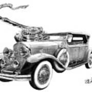 1929 Cadillac  Art Print