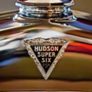 1929 Hudson Cabriolet Hood Ornament Art Print