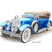 1929 Packard Dual Cowl Phaeton Art Print