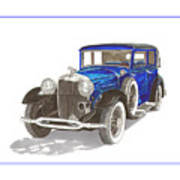 1930 Lincoln L Berline Art Print