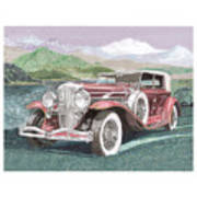 1930 Model J  Duesenberg Art Print