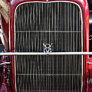 1930 Red Ford Model A-grill-8885 Art Print