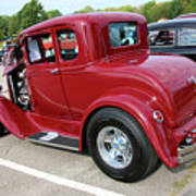 1930 Red Ford Model A-rear-8902 Art Print