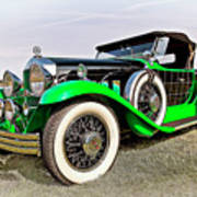 1930 Willys Knight 66b-plaidside Art Print