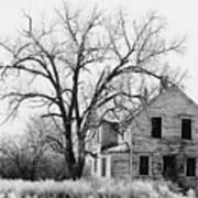 1930's Abandoned Farm House Near Aberdeen South Dakota 1965  Art Print