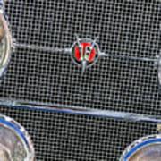 1931 Cadillac Phaeton Grille And Headlights Art Print