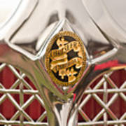 1931 Chrysler Cg Imperial Lebaron Roadster Grille Emblem Print by Jill Reger