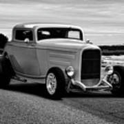 1932 Ford Coupe 'black And White' Art Print