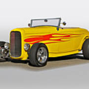1932 Ford 'flame Game' Roadster Art Print